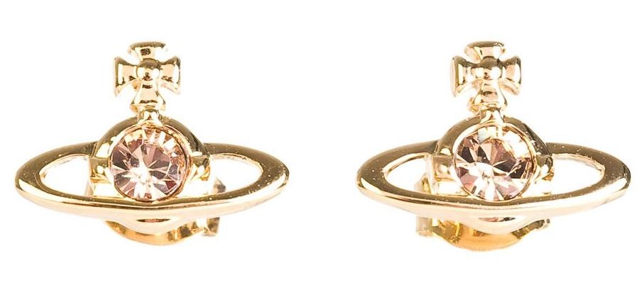 Vivienne Westwood gold Topaz ear bling