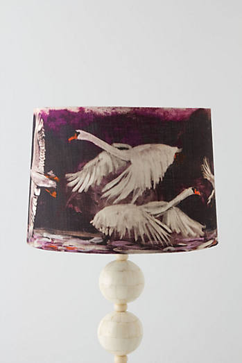 The velvet swan patterned lampshades that may well have made me lose my marbles. £74  Anthropologie