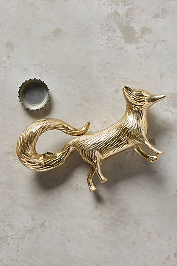 Brass fox bottle opener £14  Anthropologie