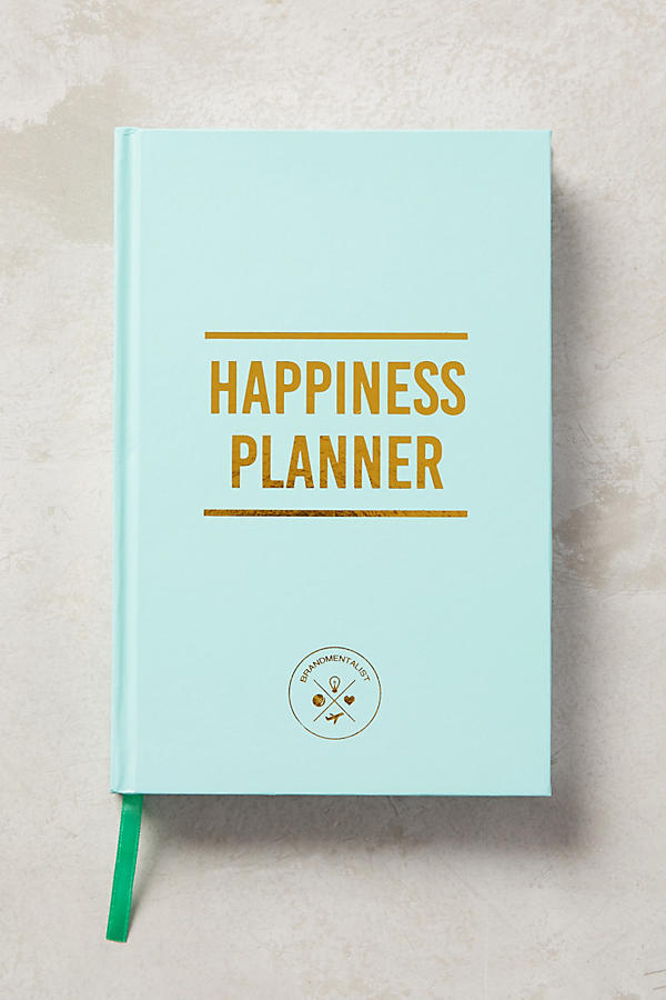 Happiness planner £28  Anthropologie