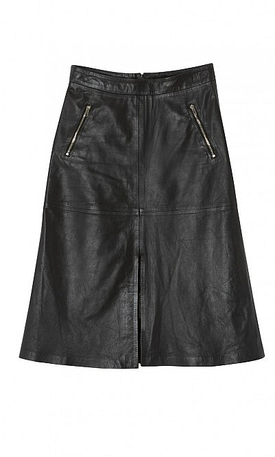 Victor leather skirt Now £115  Plumo
