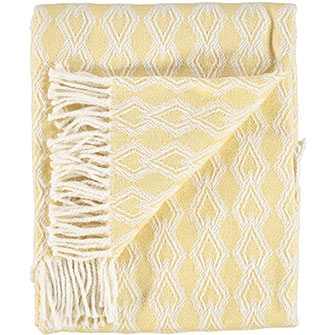 Yellow and white throw £16.99  TK Maxx