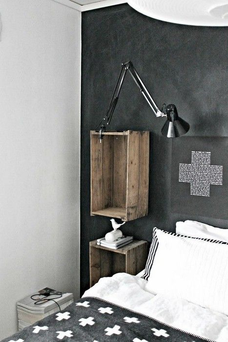 Shelves made from vintage crates or drawers. Image from Interieur.fr
