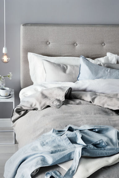 Washed linen duvet set £79.99 H&M Home