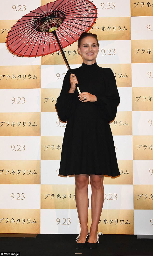 Natalie Portman pictured for Telegraph Fashion at the premiere of her latest film Planetarium in Japan.