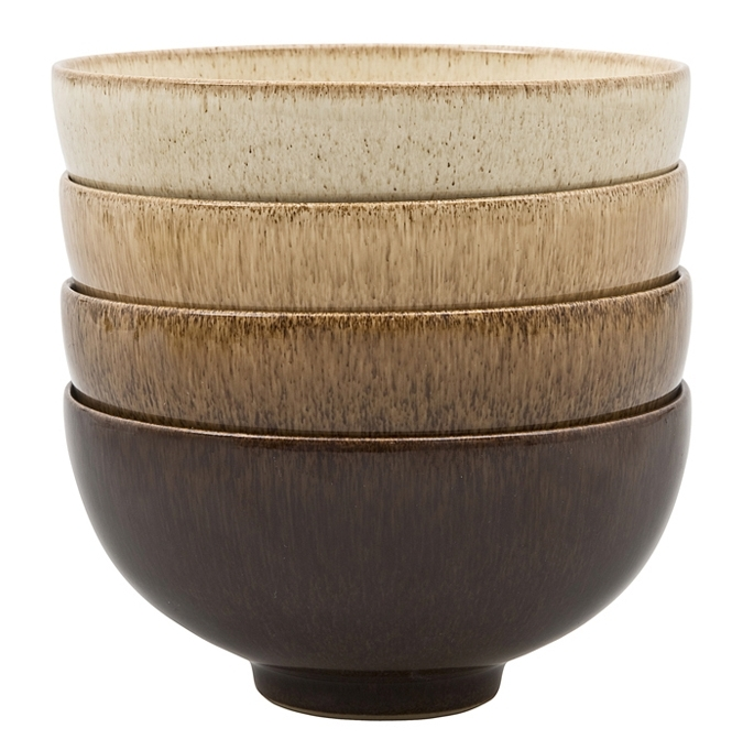 A set of four co-ordinating stacking bowls from the Studio Craft range by Denby