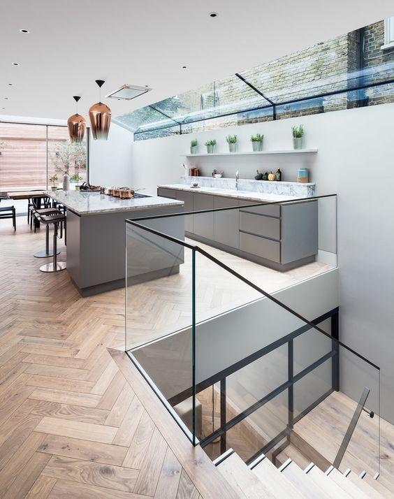 Modern cellar access by Jo Cowen Architechts