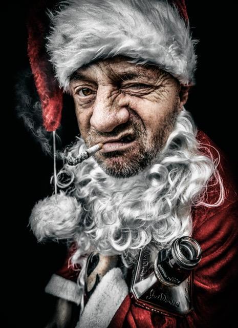 Bad Santa print now £6.99  www.nickiekelly.com