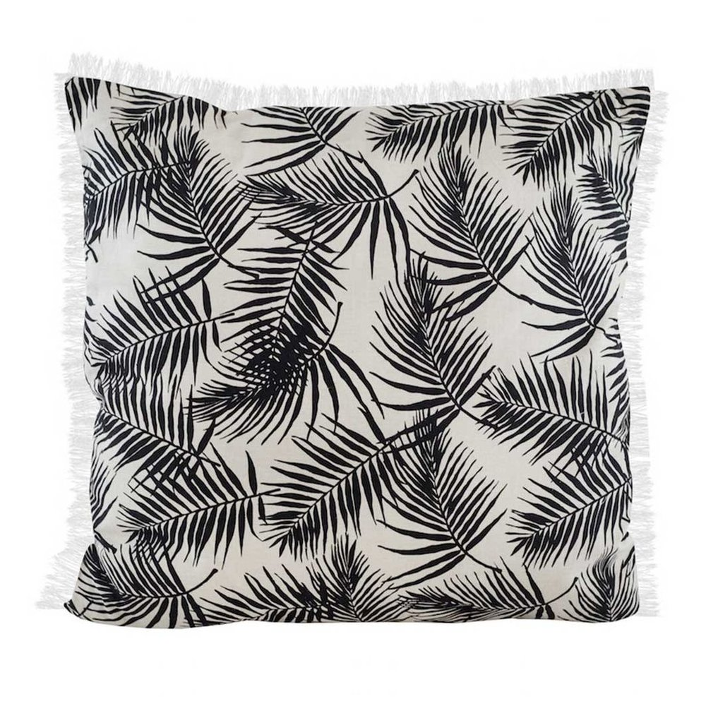 Palm print tassle cushion  www.featherandnest.co.uk