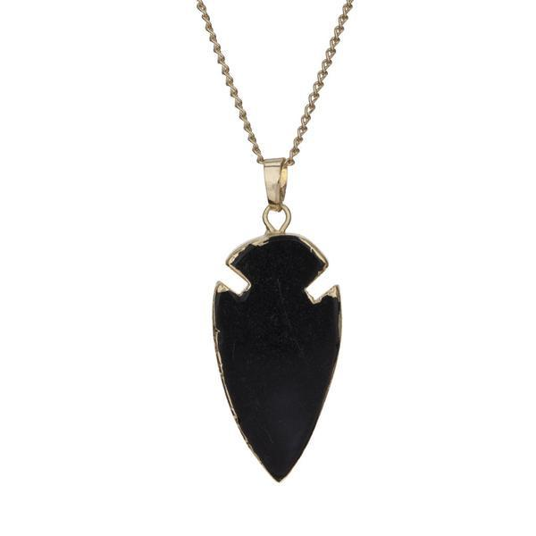 Arrow jade pendant (black) £38  www.featherandnest.co.uk