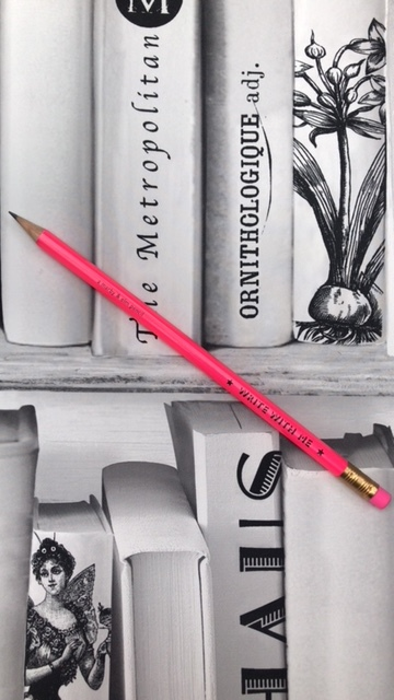 Fluro write with me pencil £1.50  www.featherandnest.co.uk