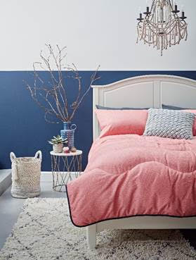 New Coral printed duvet from Marks and Spencer which is re-thinking the way I do duvets