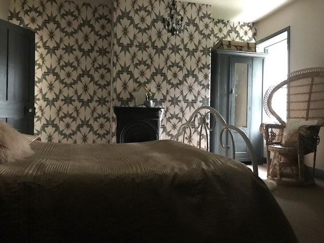 The New Attic Guest Room With Wallpaper By Anna Hayman Designs