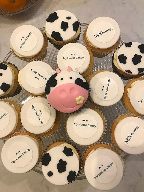 When Moo Boutique X My House Candy do catering… Cupcakes by  Sweetcakes