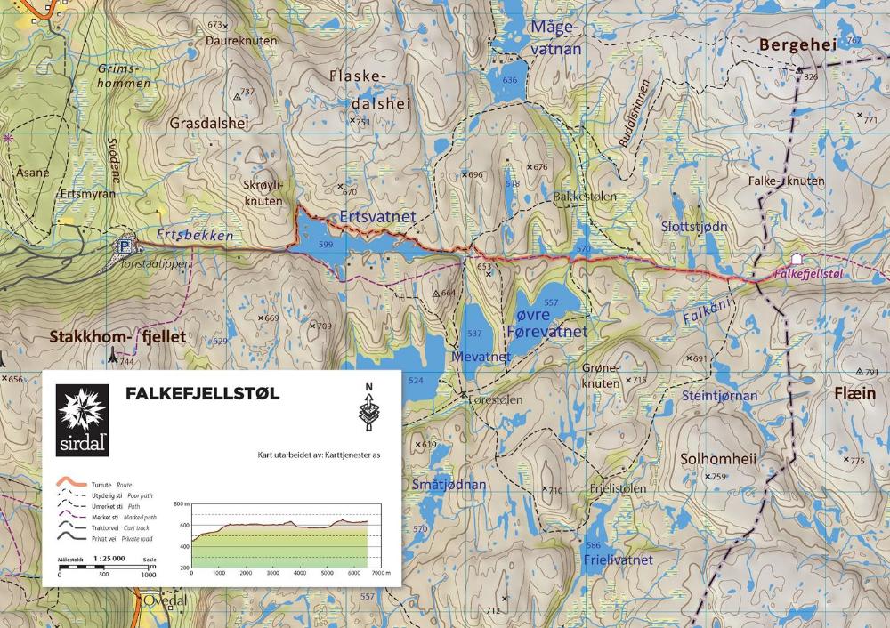 Kart til infotavle