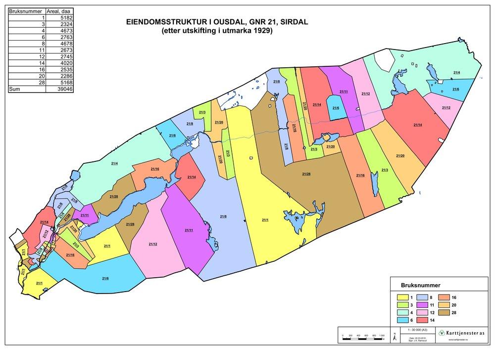Temakart - Eiendomsstruktur i utmark