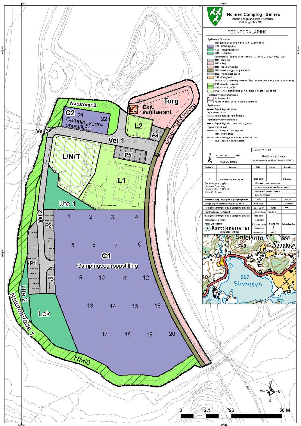 Reguleringsplan for Holmen Camping, Sirdal kommune