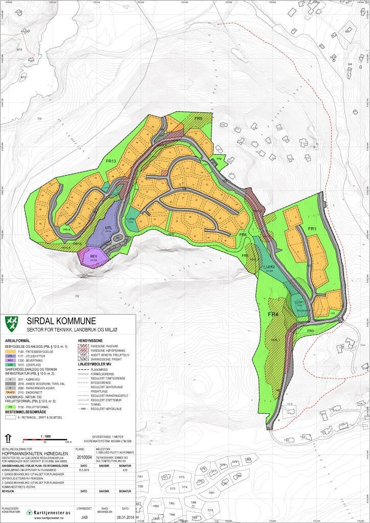 Reguleringsplan for Hoppmannsknuten hyttefelt, Sirdal kommune