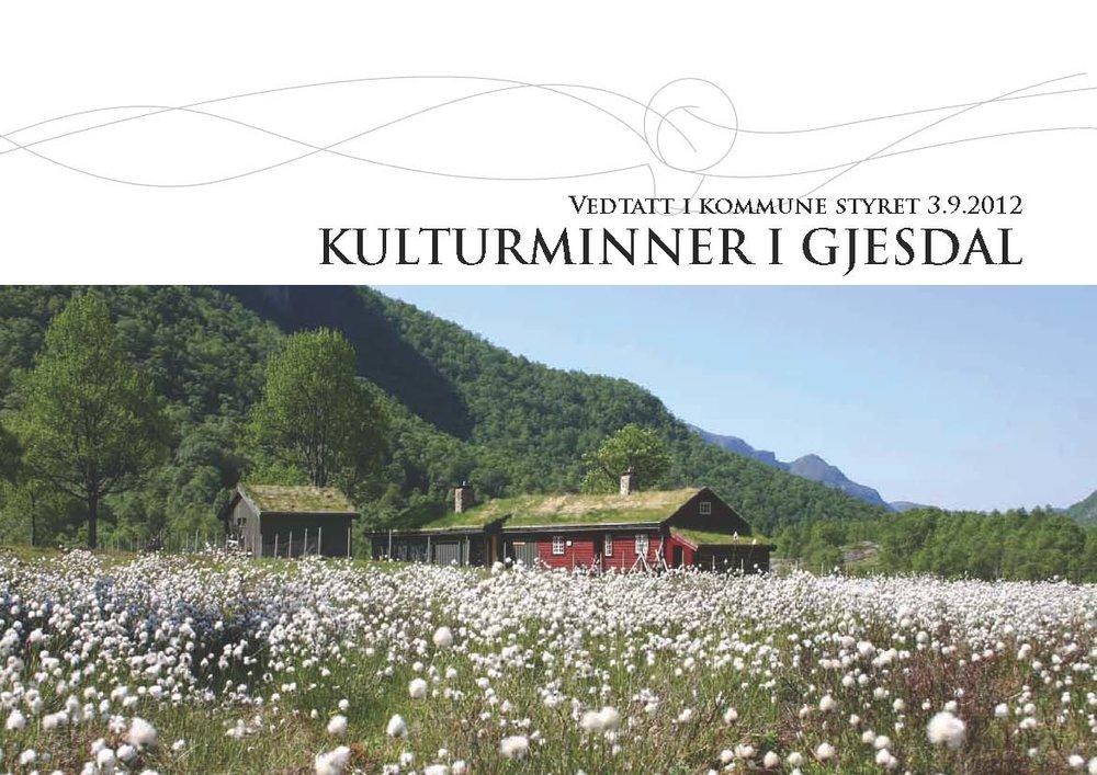 Kulturminneplan Gjesdal kommune - klikk for mer info