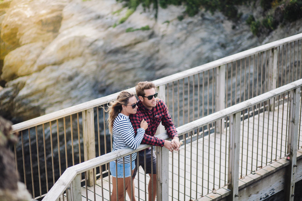 Couple on Porth bridge for Beach Retreats-3 | Karl Mackie Photography