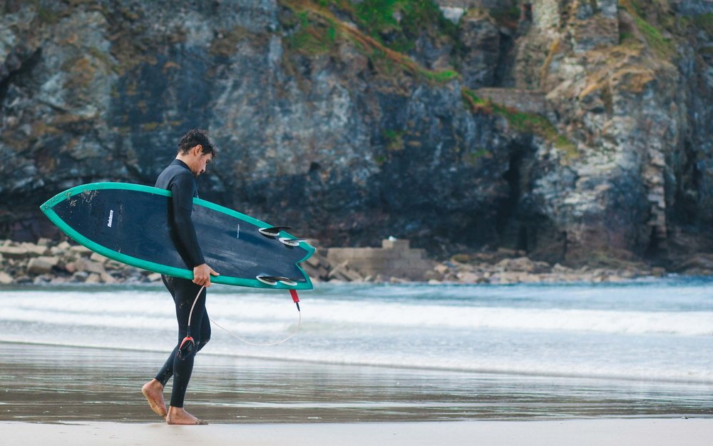 Surfing in St Agnes | Tudor Watches and Finisterre for Esquire Magazine | Karl Mackie Photography
