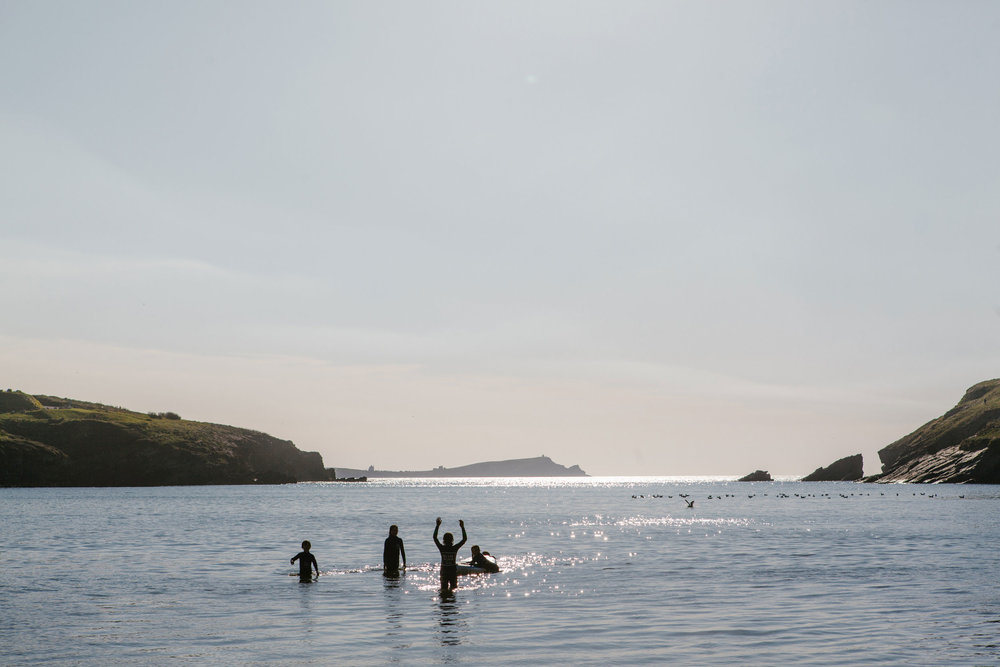 Surf lessons for Blue Surf School at Porth | Karl Mackie Photography