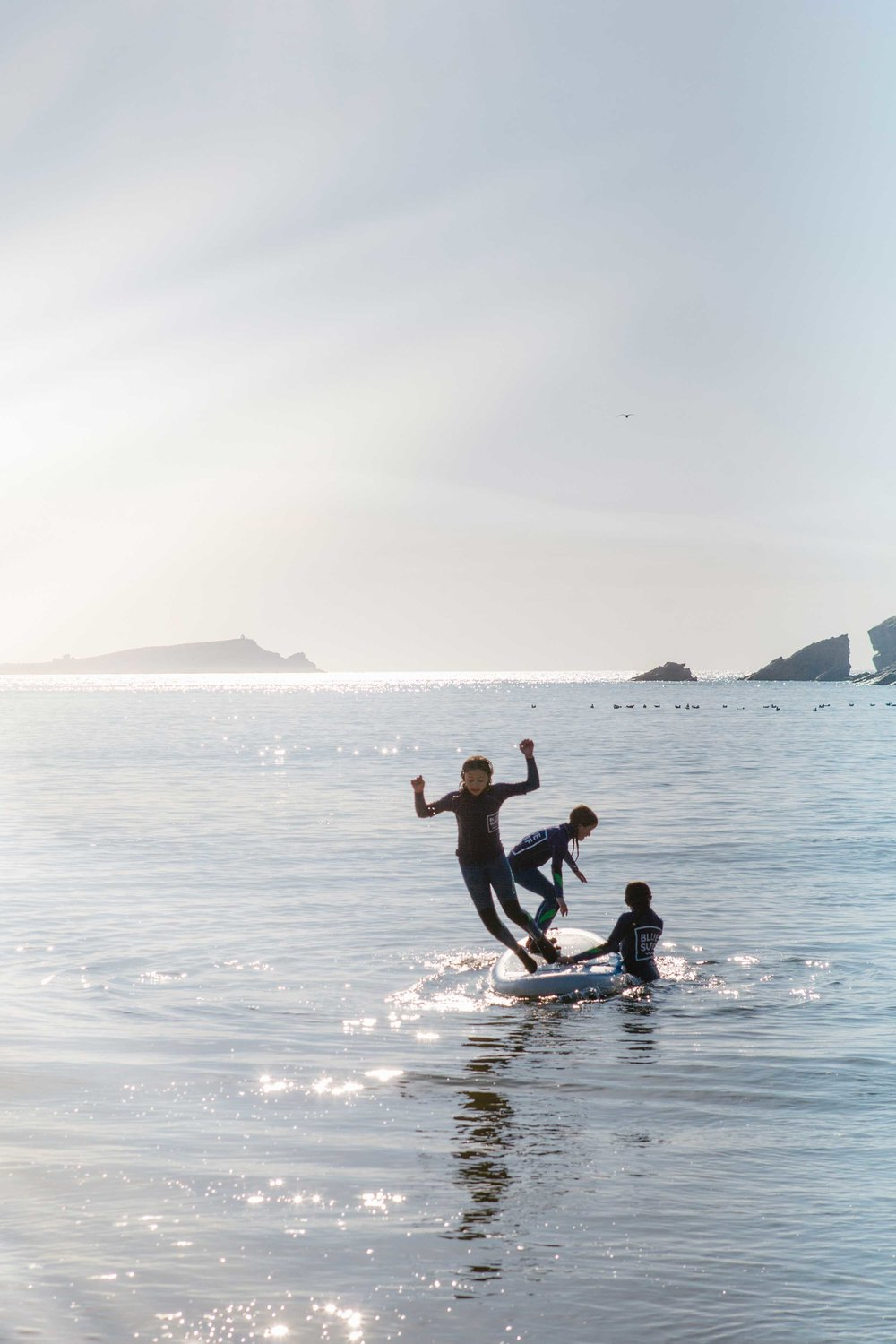 Surf lessons for Blue Surf School at Porth-2 | Karl Mackie Photography