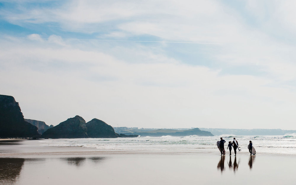 Surf lessons for Blue Surf School at Watergate Bay in Newquay-3 | Karl Mackie Photography