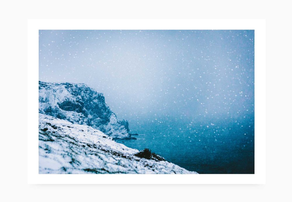 Watergate Bay in the snow | Karl Mackie Photography | Art Print