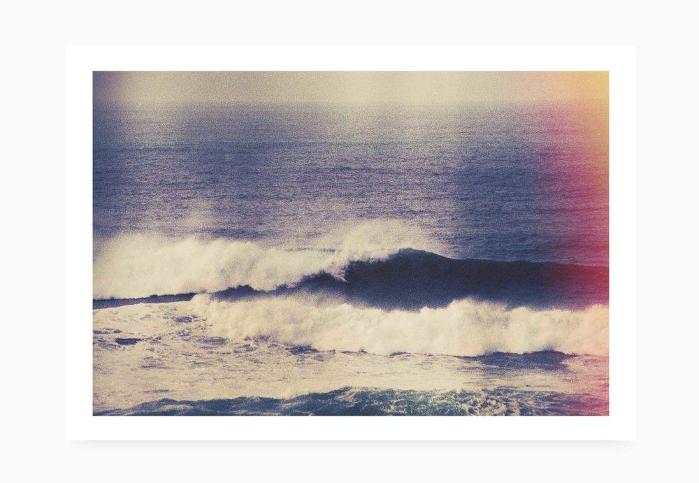 Surfer riding huge waves at Newquay Cribbar | Karl Mackie Photography | Art Print