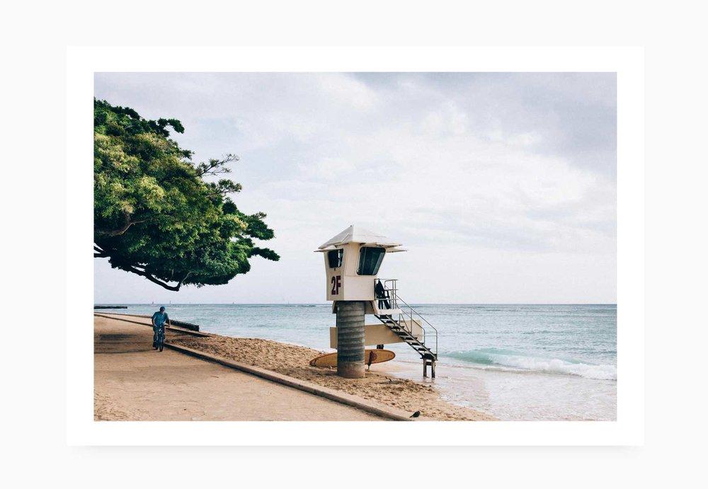 Lifeguard Tower at Waikiki Beach | Karl Mackie Photography | Art Print