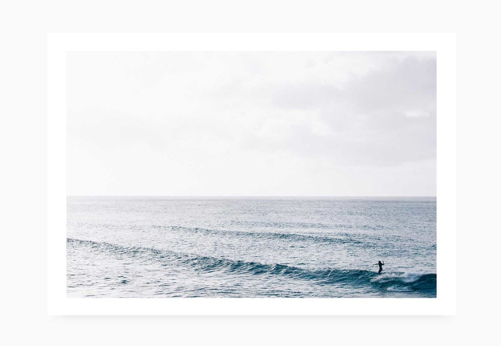 Surfer girl riding a longboard at Pipeline | Karl Mackie Photography | Art Print