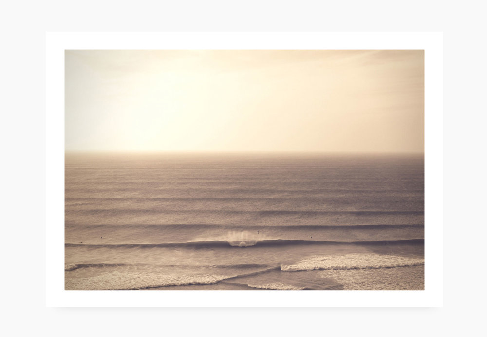 Perfect waves breaking in Newquay | Karl Mackie Photography | Art Print