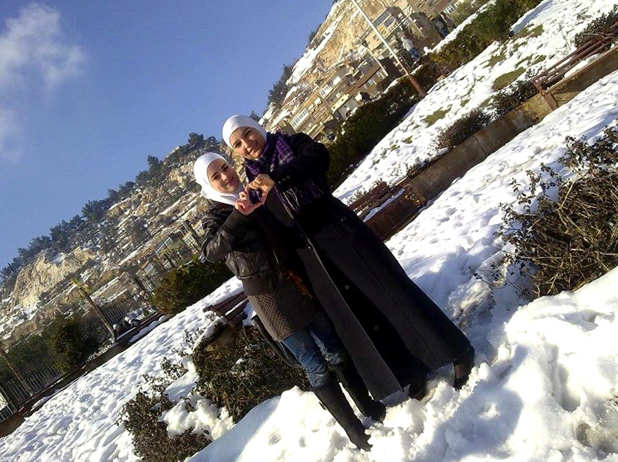 Suhaila and her mother in Damascus