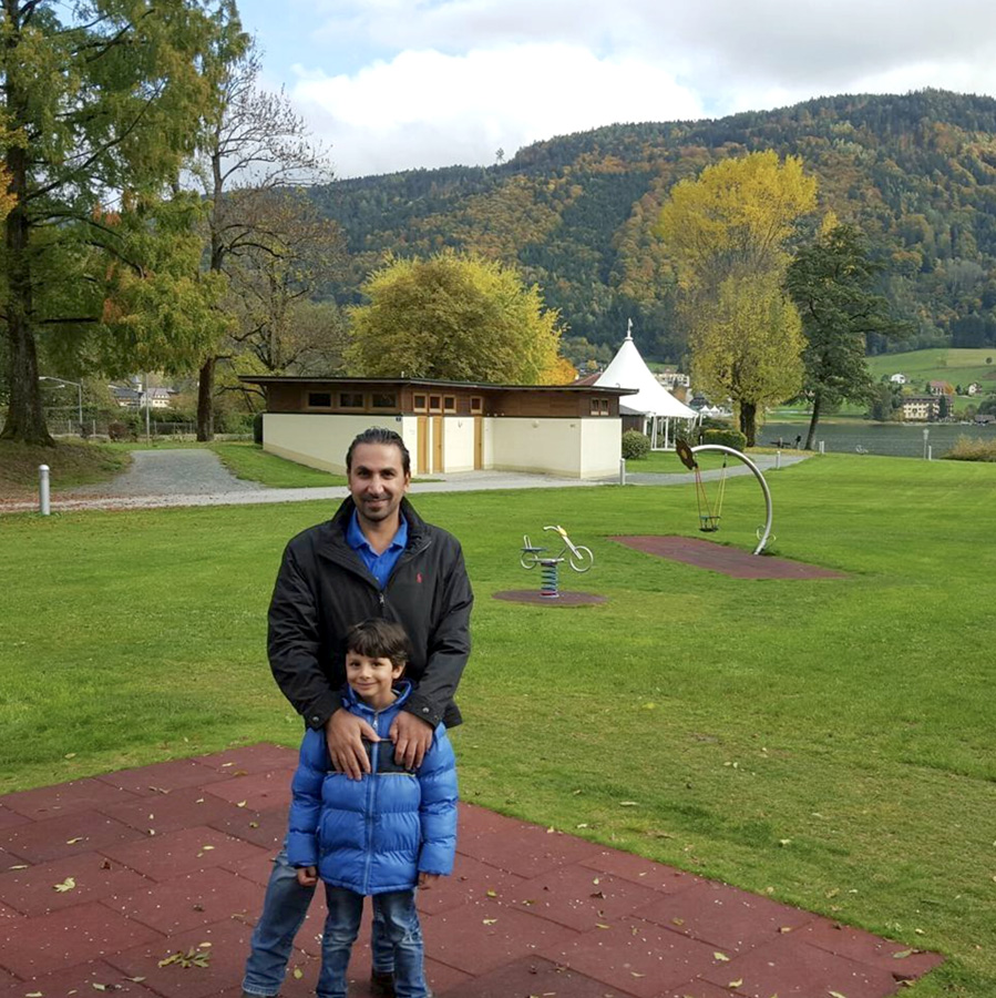 Wissam and his father in Austria