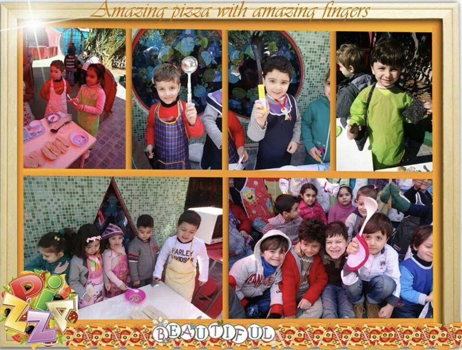 A celebration at the pre-school of Wissam in Damascus