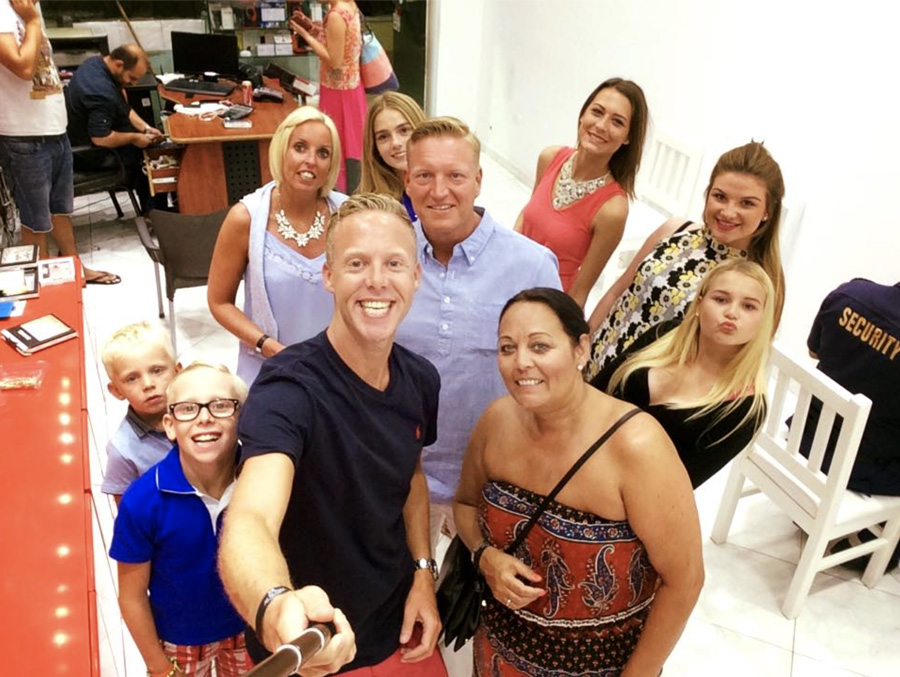 Finn and his family on holiday in Egypt