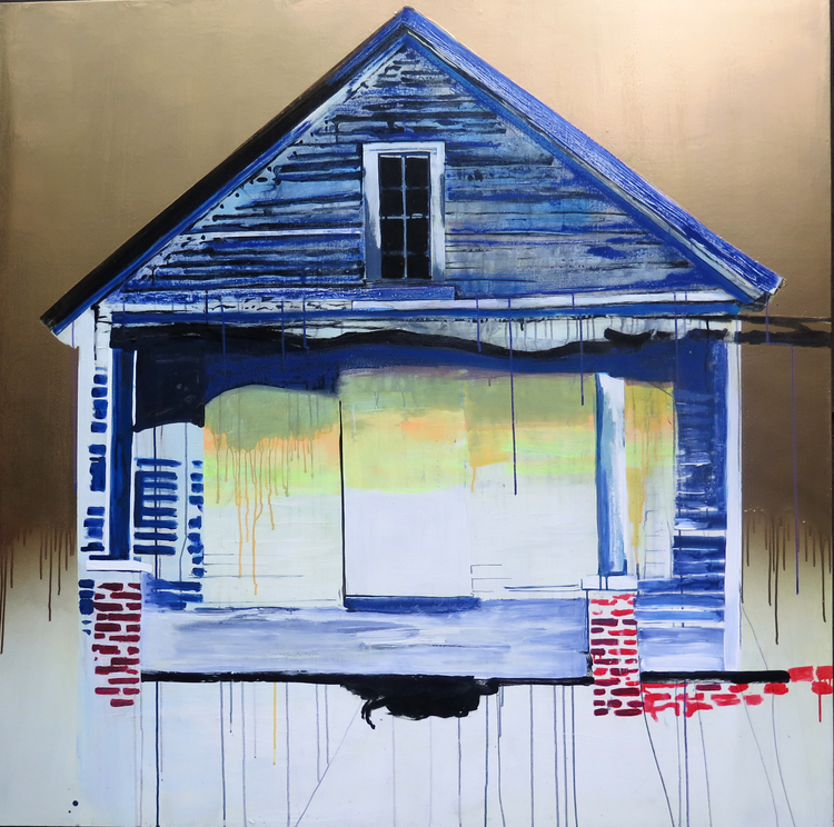 "BLUE HOUSE  60""x60""  Acrylic on Panel"