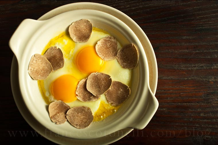 Sunny Side Up Eggs with Truffle