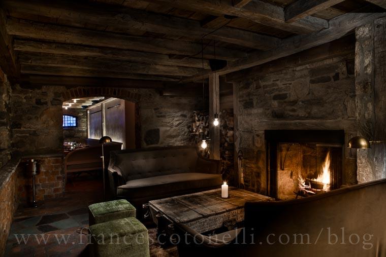 Fireplace Dining Area