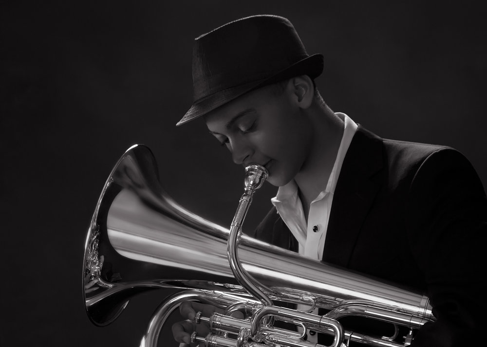 Euphonium guest soloist, Joe Broom