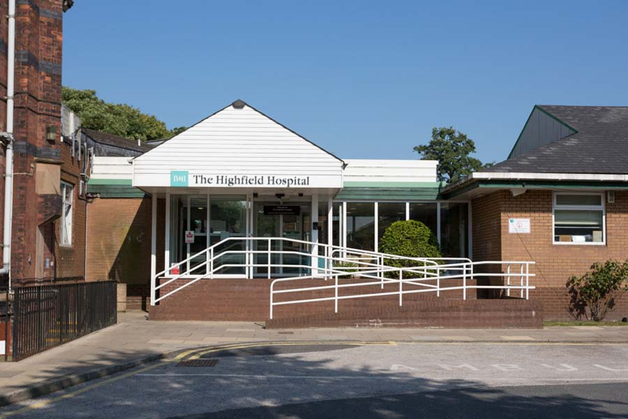 BMI The Highfield Hospital  Manchester Road  Rochdale  Lancashire OL11 4LZ