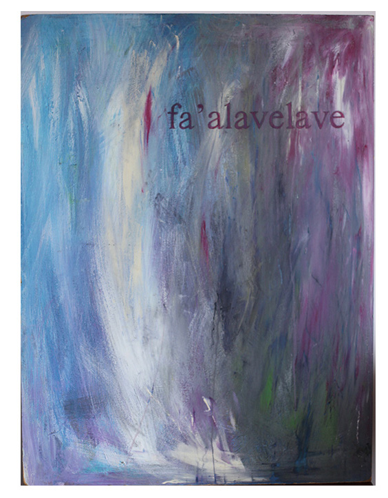 """fa'alavelave"" abstract painting on MDF panel board"