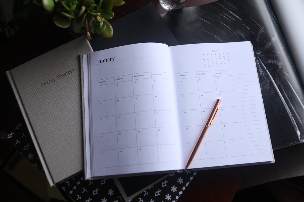 Monthly overview page