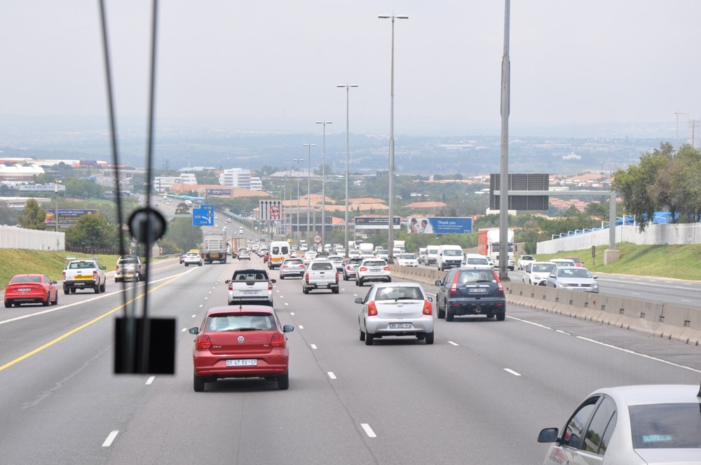Eight lanes of N1. They drive on the left side of the road.