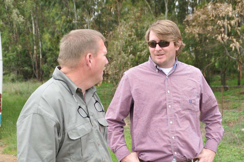 Chip Hixon and Thomas Crigler share their observations on the Leeubank Farm.