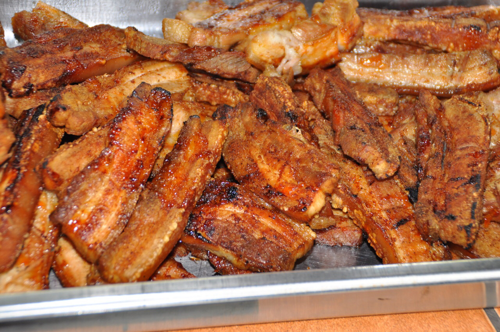 Grilled pork bellies capped a delicious meal hosted by TSB Sugar Company.