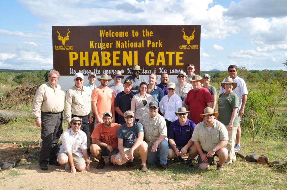 Group shot of Class XIV at the Phabeni Gate of the Kruger National Park.