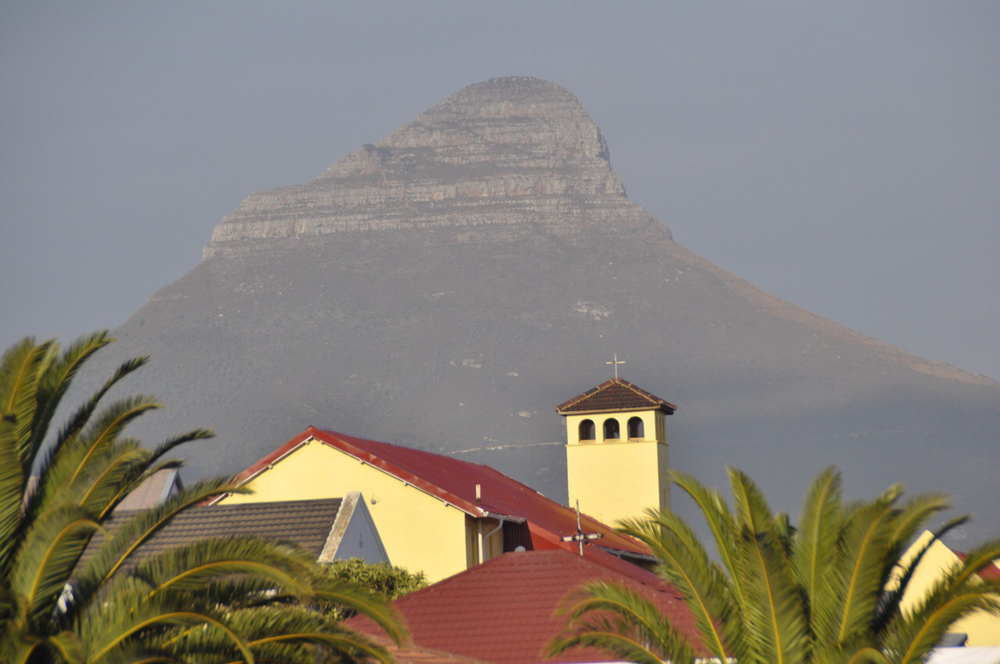 The Lion Head Mountain of Cape Town, SA.