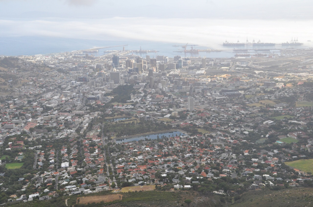 The City of Cape Town as seen from the top of Table Mountain!